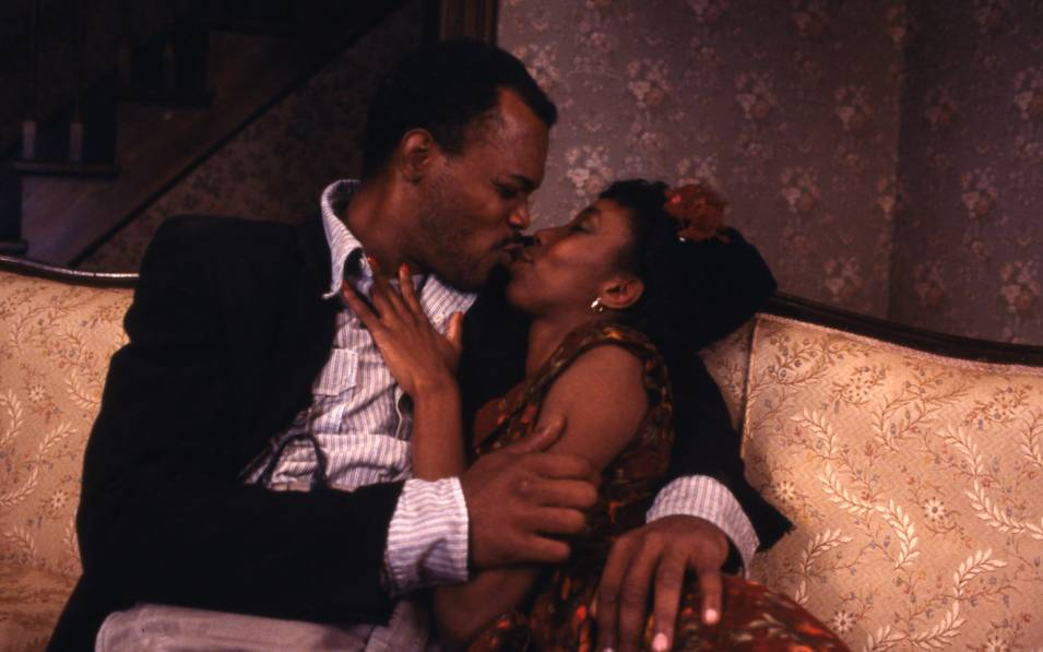 Samuel L. Jackson and Sharon Washington in THE PIANO LESSON. Photo © Gerry Goodstein, 1987.