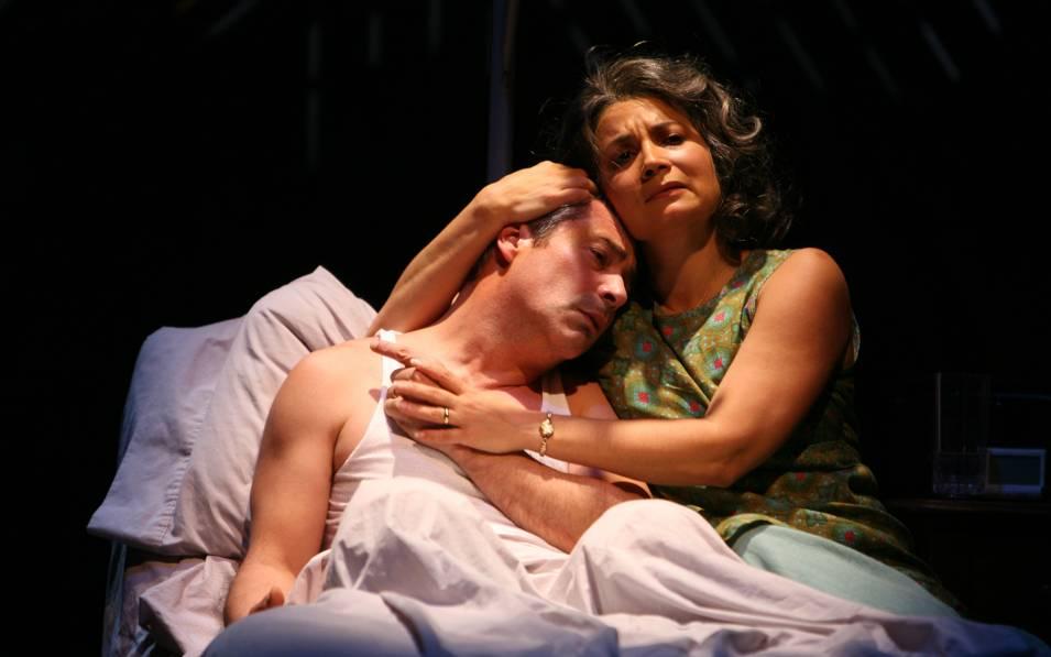 Gary Perez and Adriana Sevan in BOLEROS FOR THE DISENCHANTED. Photo © Joan Marcus, 2008.