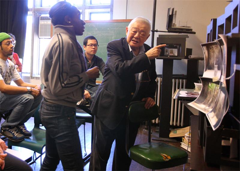Dede Ayite ('11) in class with Ming Cho Lee.