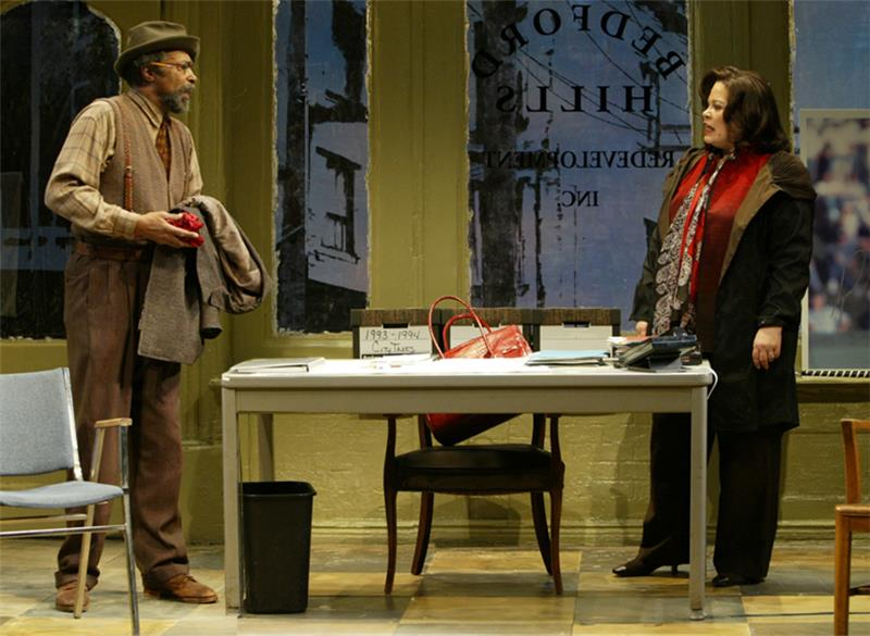 Anthony Chisholm and Michele Shay in August Wilson's Radio Golf directed by Timothy Douglas.
