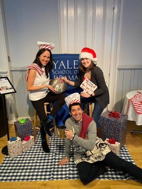 Jennifer Alzona, Shane Quinn, Nikki Mills baking